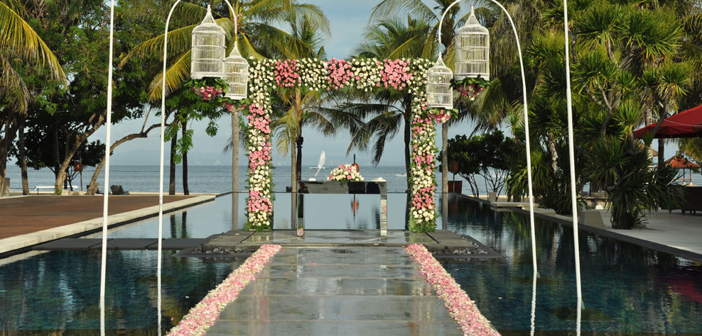 beach wedding venue at the royal santrian - the bali channel