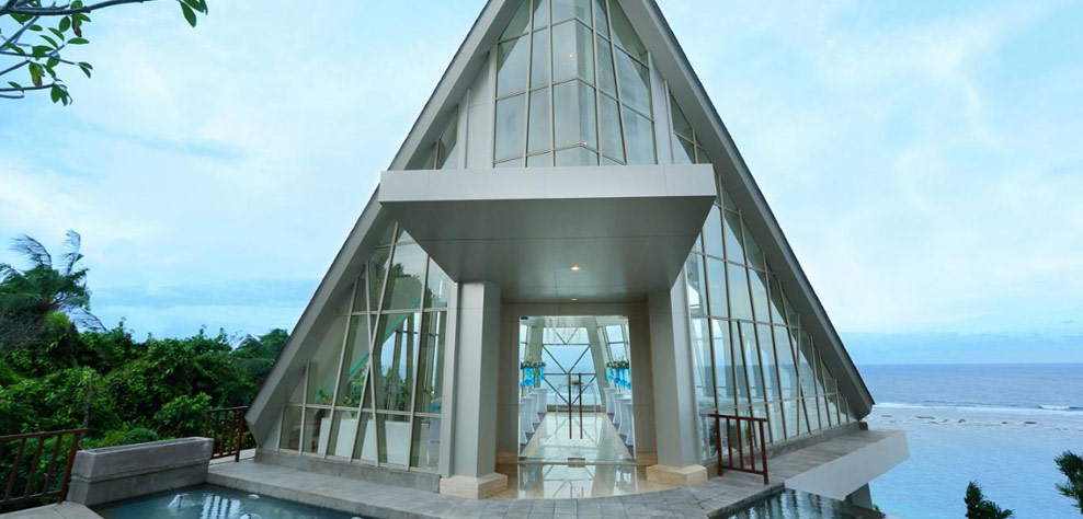 pearl chapel wedding - samabe bali resort and villas