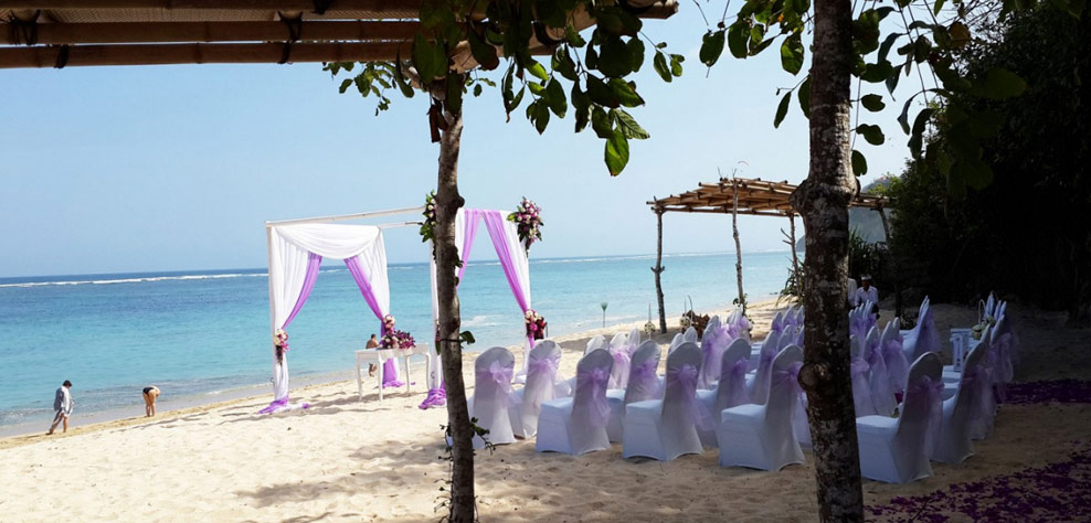 wedding beach venue - samabe bali resort and villas