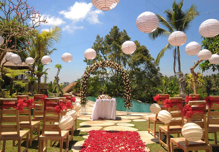puri ganga resort ubud - ubud resort wedding venue