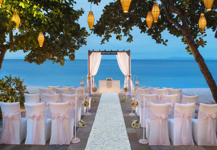 the laguna bali resort - beach front wedding venue