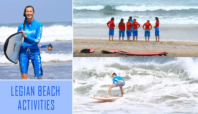 legian beach bali activities and surfing lesson