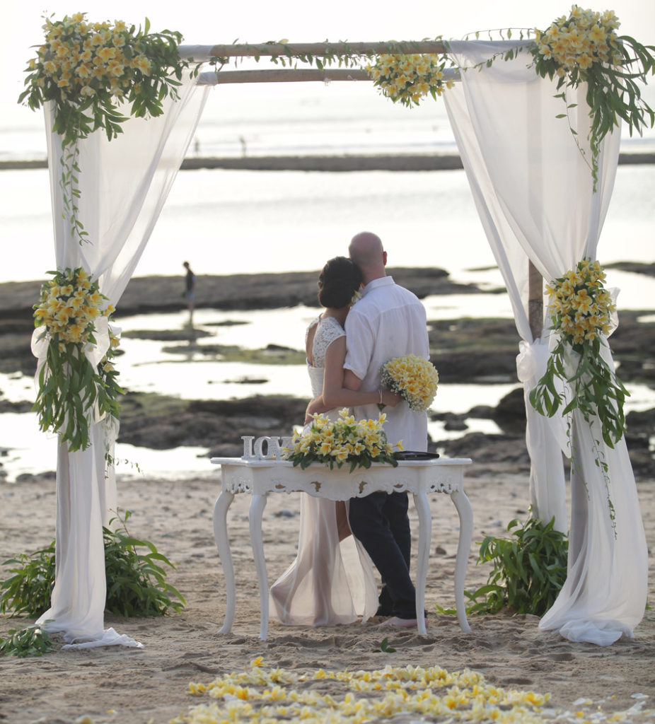 balangan beach bali front wedding venue