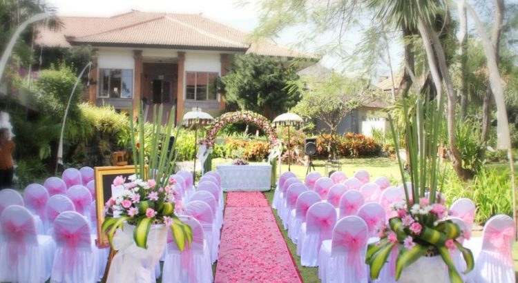 garden wedding at bali dynasty