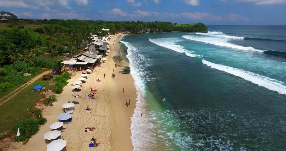 balangan beach for surf paradise in bali