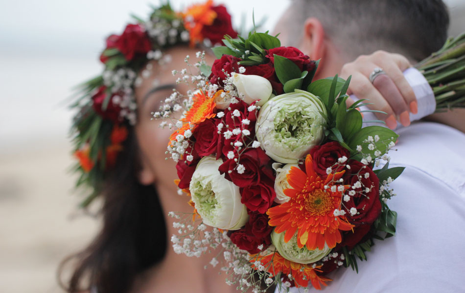 bali wedding bouquet